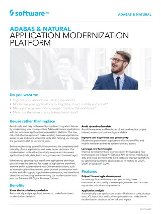 Adabas & Natural Application Modernization Platform