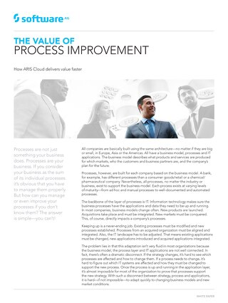 The Value of Process Improvement