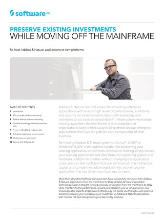 Preserve Existing Investments While Moving Off the Mainframe