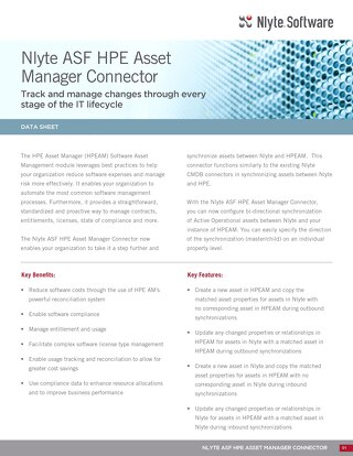 Nlyte ASF HPE Asset Manager Connector