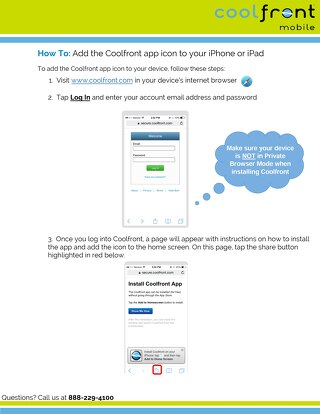How to Save Coolfront on IOS Devices