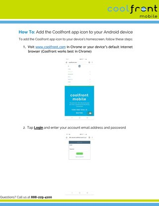 How To Save Coolfront on Android Devices