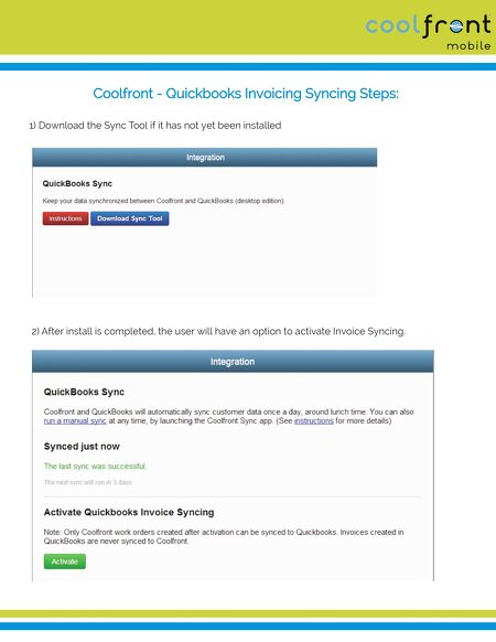 Coolfront And QuickBooks Invoice Sync - Invoice app that syncs with quickbooks