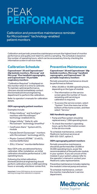 Calibration & Preventative Maintenance