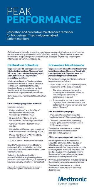 Calibration & Preventative Maintenance