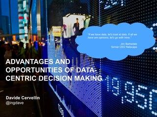 Data Centric Decision Making - Davide Cervellin