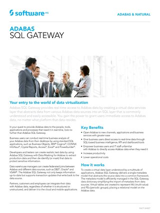 Adabas SQL Gateway