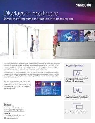 Samsung Displays in Healthcare