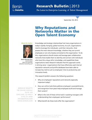 Why Reputation and Networks Matter