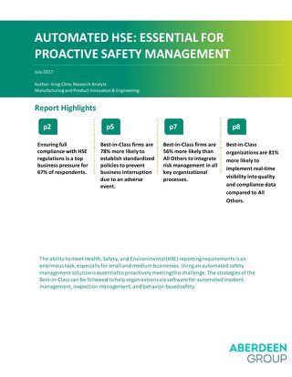Automated HSE: An Essential Requirement for Proactive Safety Management
