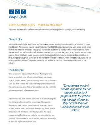 ManpowerGroup - Case Study