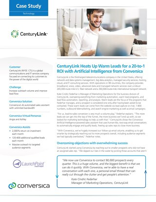 CenturyLink Case Study