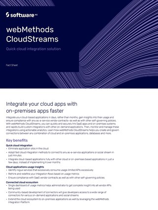 webMethods CloudStreams