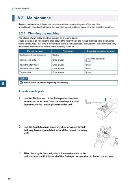 tajima owners and parts manuals sai operation manual rh docs hic us Wordie Manual Maintenance Person