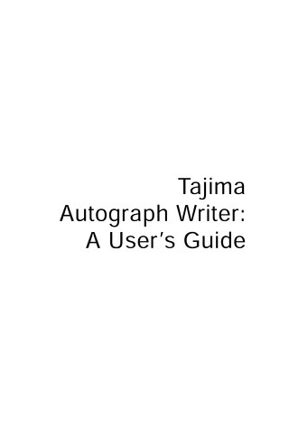 Autograph Users Guide