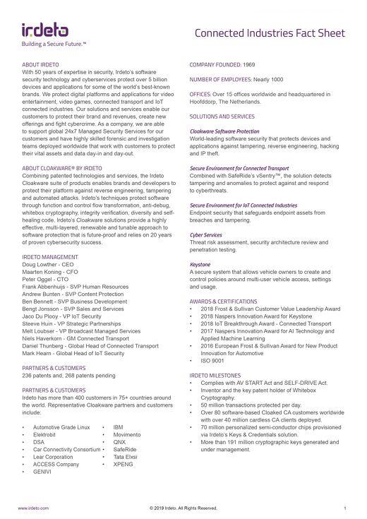 Beyond Media Fact Sheet