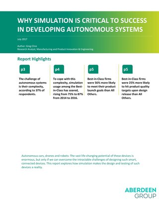 Why Simulation Is Critical to Success in Developing Autonomous Systems