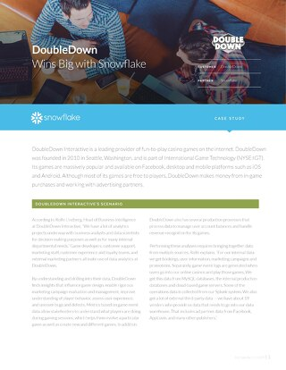 DoubleDown: Reducing costs by 80% with Snowflake
