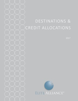 Destinations and Credit Allocations 2017
