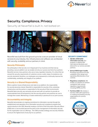 Security, Compliance, Privacy