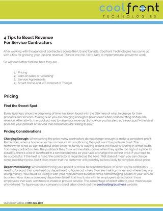 4 Tips to Boost Revenue for Service Contractors