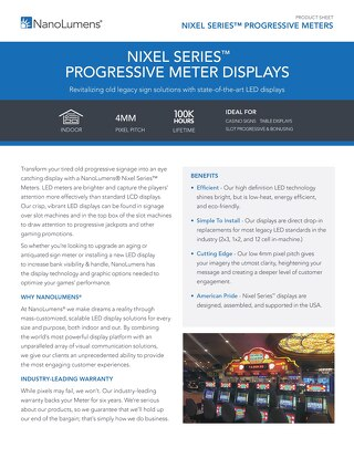 NanoLumens NIXEL Series™ Progressive Meters