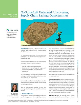 No Stone Left Unturned: Uncovering Supply Chain Savings Opportunities