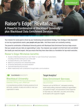 Raiser's Edge REvitalize