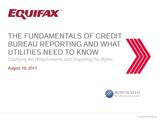 Credit Reporting Requirements Webinar Replay