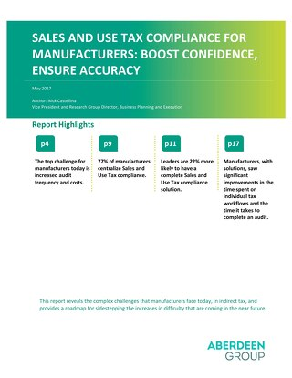Aberdeen Sales and Use Tax Compliance Report for Manufacturers
