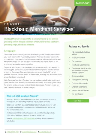 Blackbaud Merchant Services