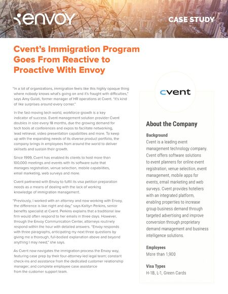 case studies cvent s immigration program goes from reactive to