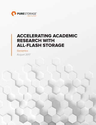 Accelerating Academic Research with All Flash Storage