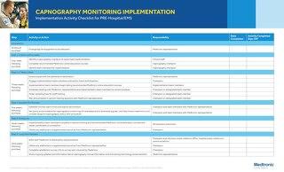 Capnography Monitoring Implementation Checklist for PRE-Hospital/EMS