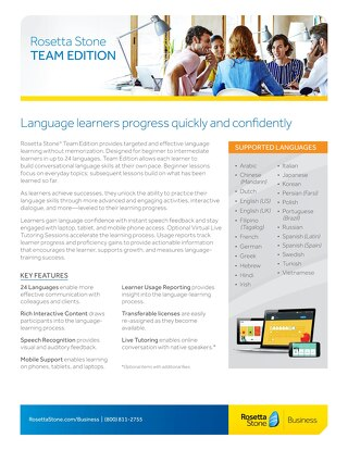Rosetta Stone® Team Edition