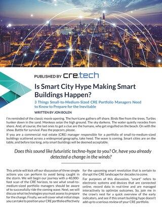 Is Smart City Hype Making Smart Buildings Happen by Jon Bolen
