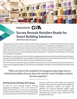 Retailers Ready for Smart Building Soltuions by Greg Fasullo