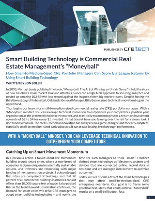 Smart Building Technology is Commercial Real Estate Management's Moneyball by Jon Bolen