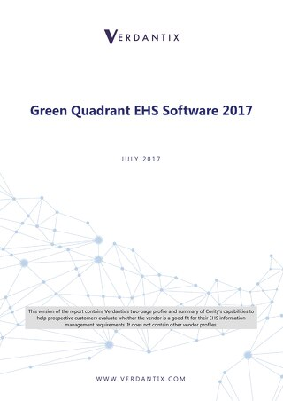 Verdantix Green Quadrant EHS Report. Cority Edition