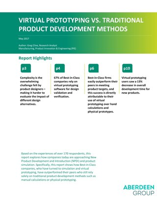 Virtual Prototyping Versus Traditional Product Development Methods