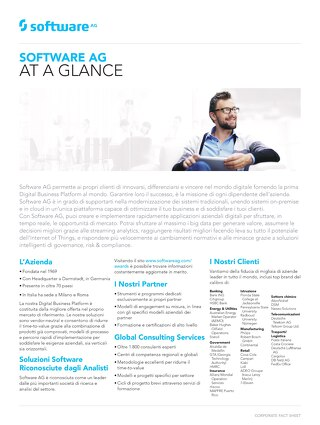 Software AG at a Glance
