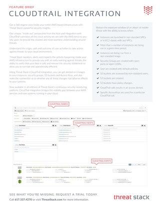 CloudTrail Integration Brief