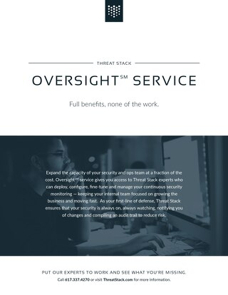 Threat Stack Oversight Datasheet