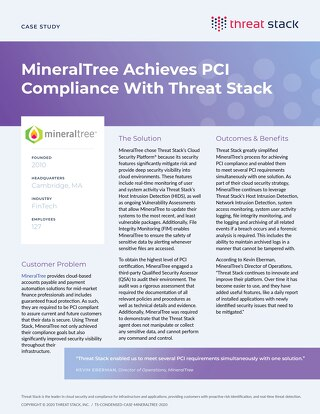 MineralTree Case Study