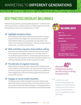 Marketing to Different Generations: A Checklist