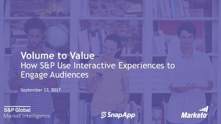 Volume to Value: How S&P Global Market Intelligence Uses Interactive Experiences to Engage Audiences