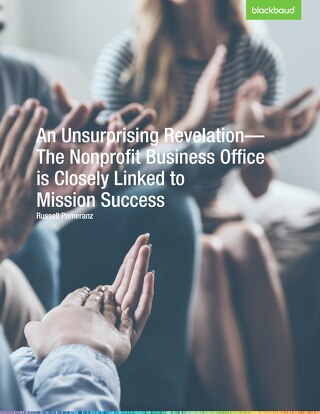 The Nonprofit Business Office is Closely Linked to Mission Success