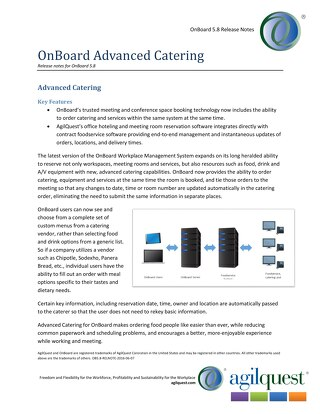 Advanced Catering Integration