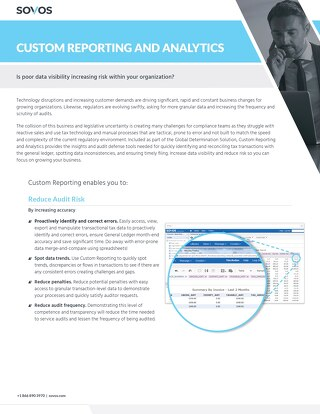 Sovos Custom Reporting and Analytics Datasheet