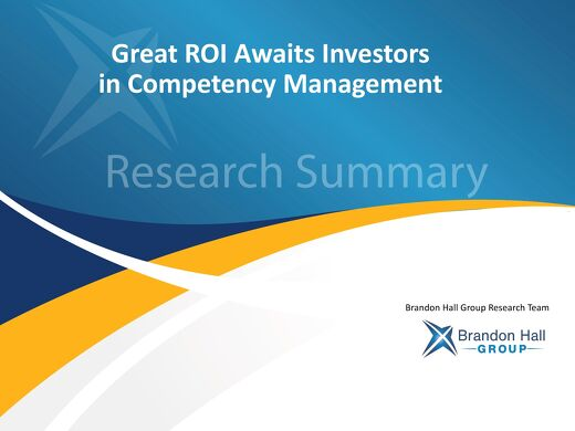 Great ROI Awaits Investors in Competency Management